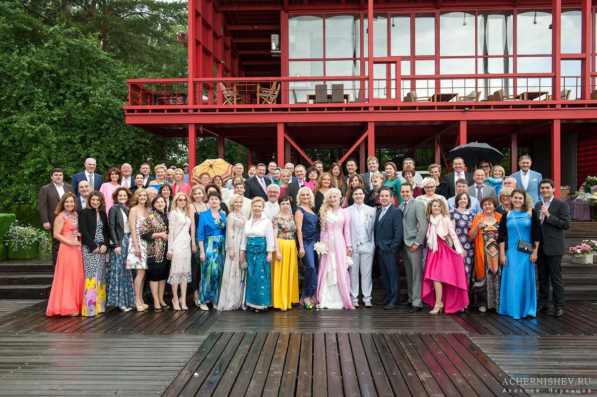Общая групповая свадебная фотография