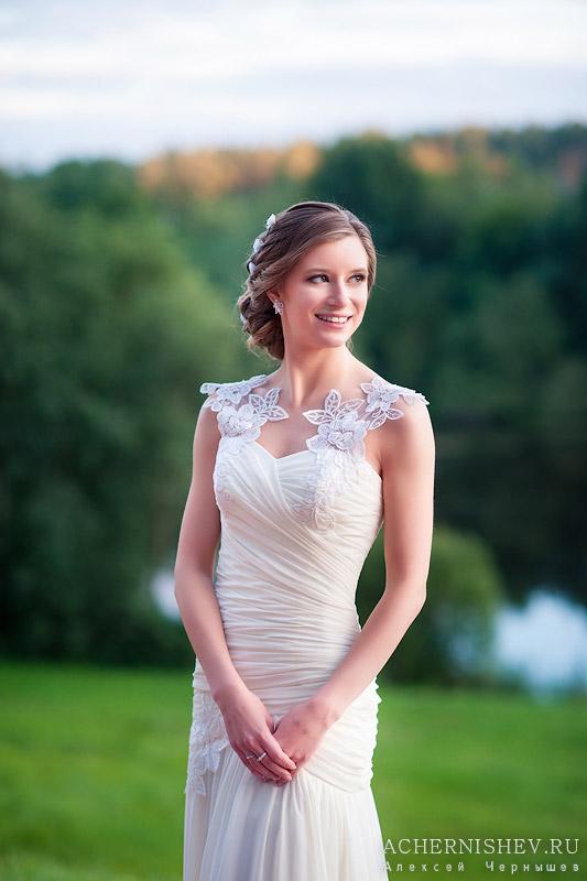 фото невесты на закате