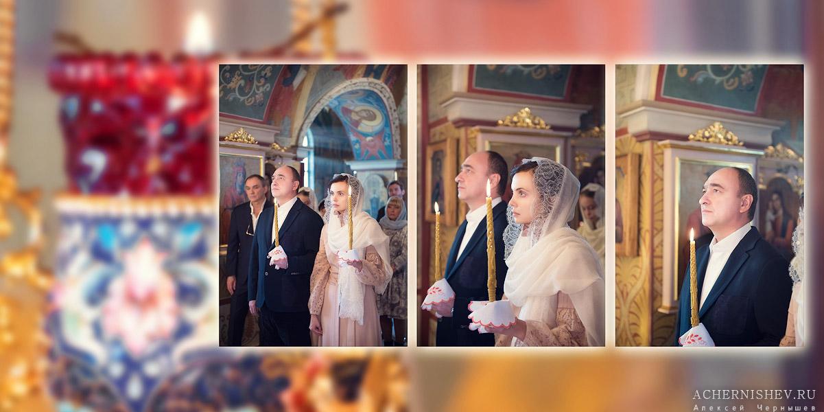 венчающиеся со свечами