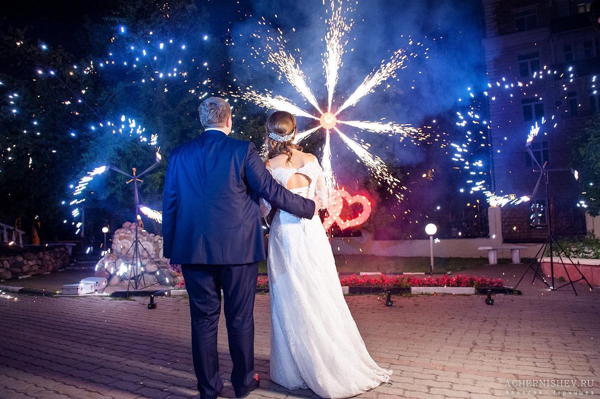фейерверк на свадьбе