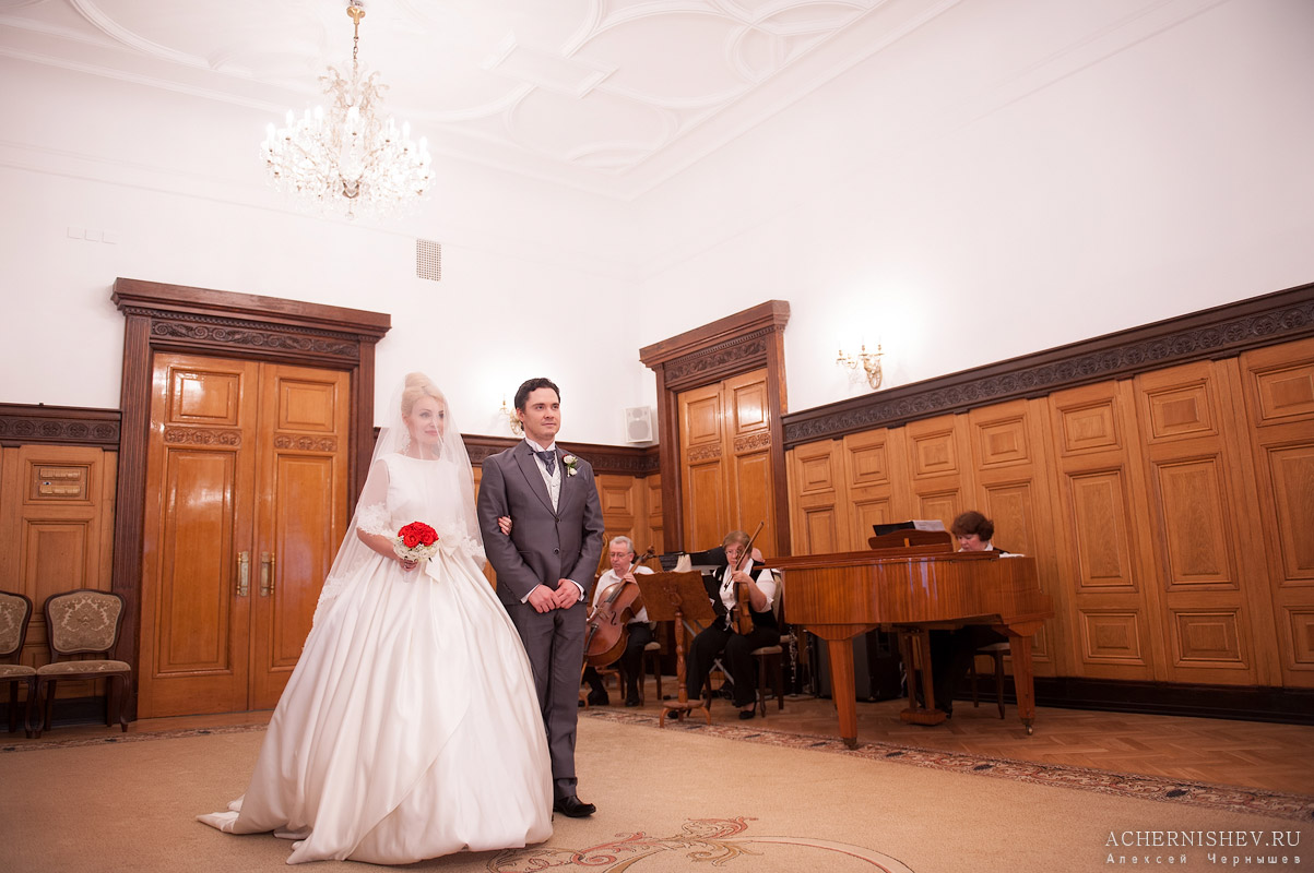 фото регистрации брака в Грибоедовском ЗАГСе