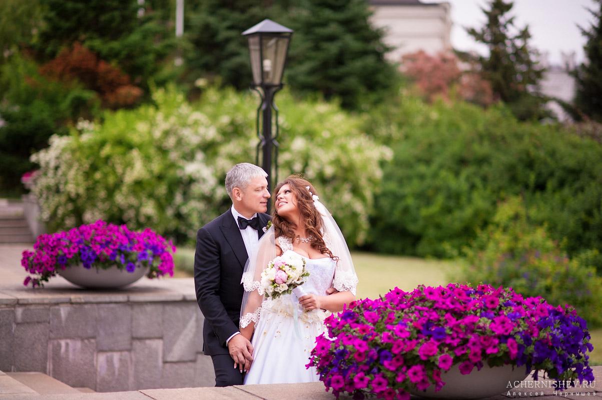 свадебное фото в цветах