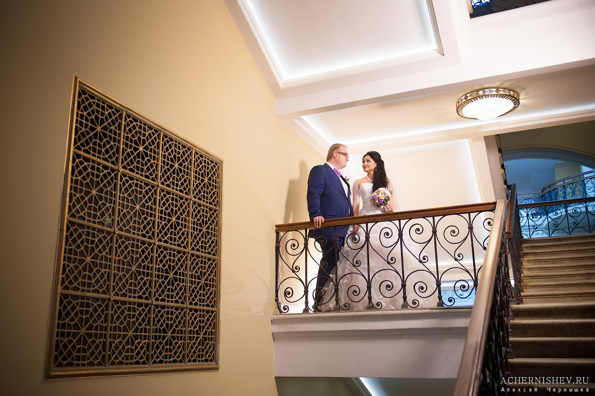 съемка на лестнице