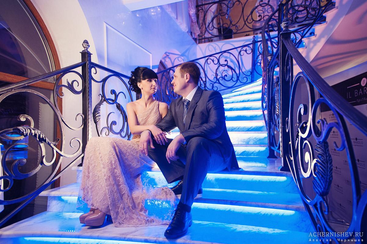 свадебная фотосессия с дополнительным освещением