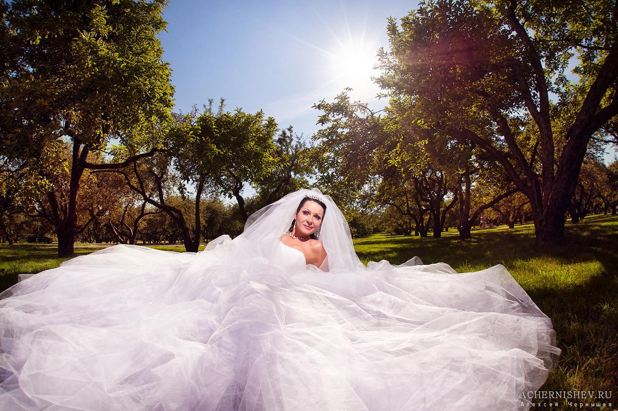 невеста в пышном платье