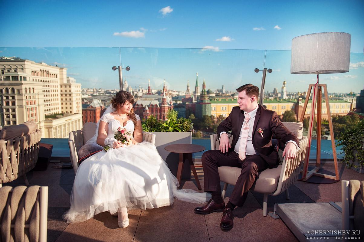 фотосессия на крыше отеля Ритц Карлтон