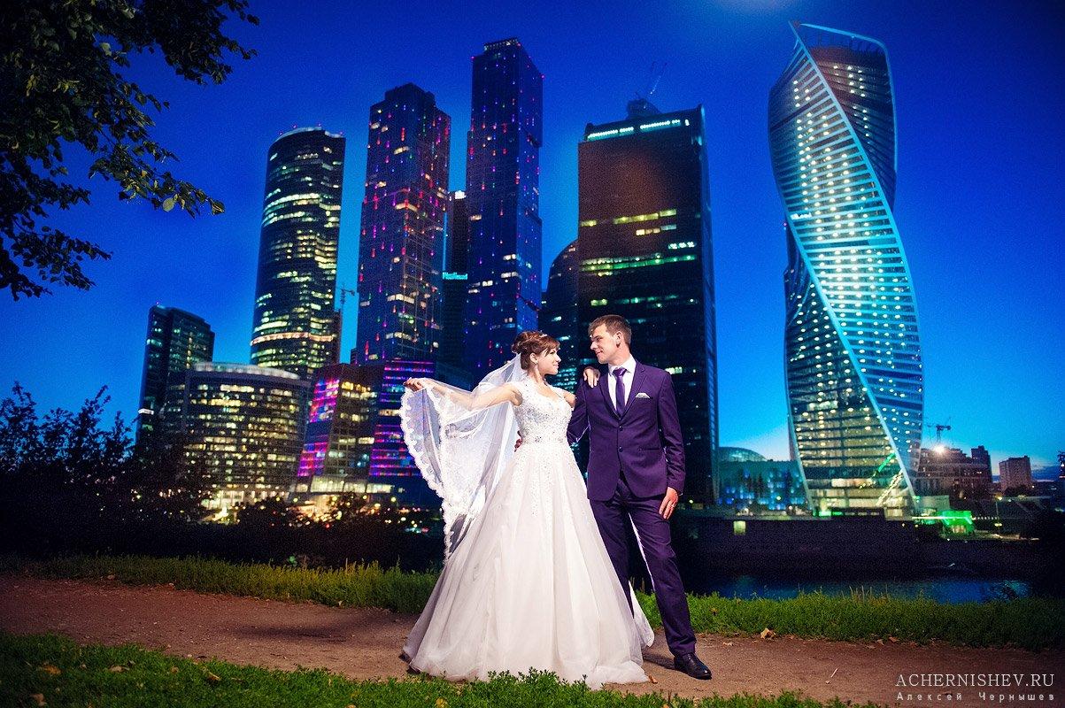 фотосессия с видом на Москва-Сити
