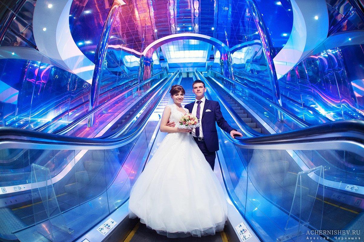 Мост Багратион - свадебная фотосессия