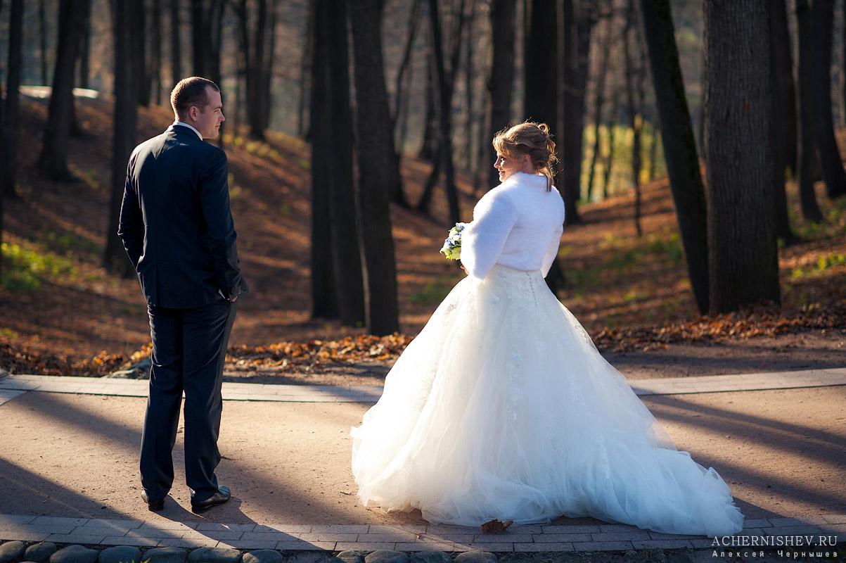 Свадьба в ноябре - в деревьях