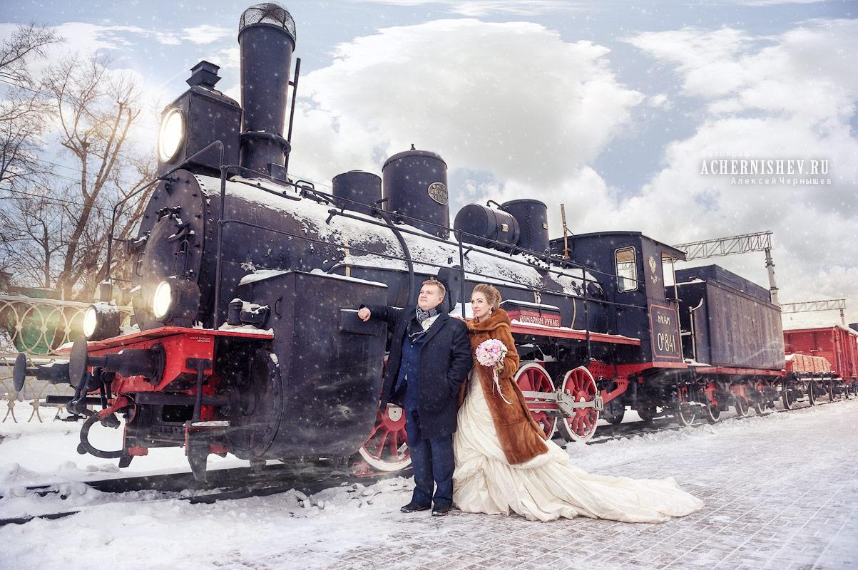 фотосессия с поездом в музее РЖД