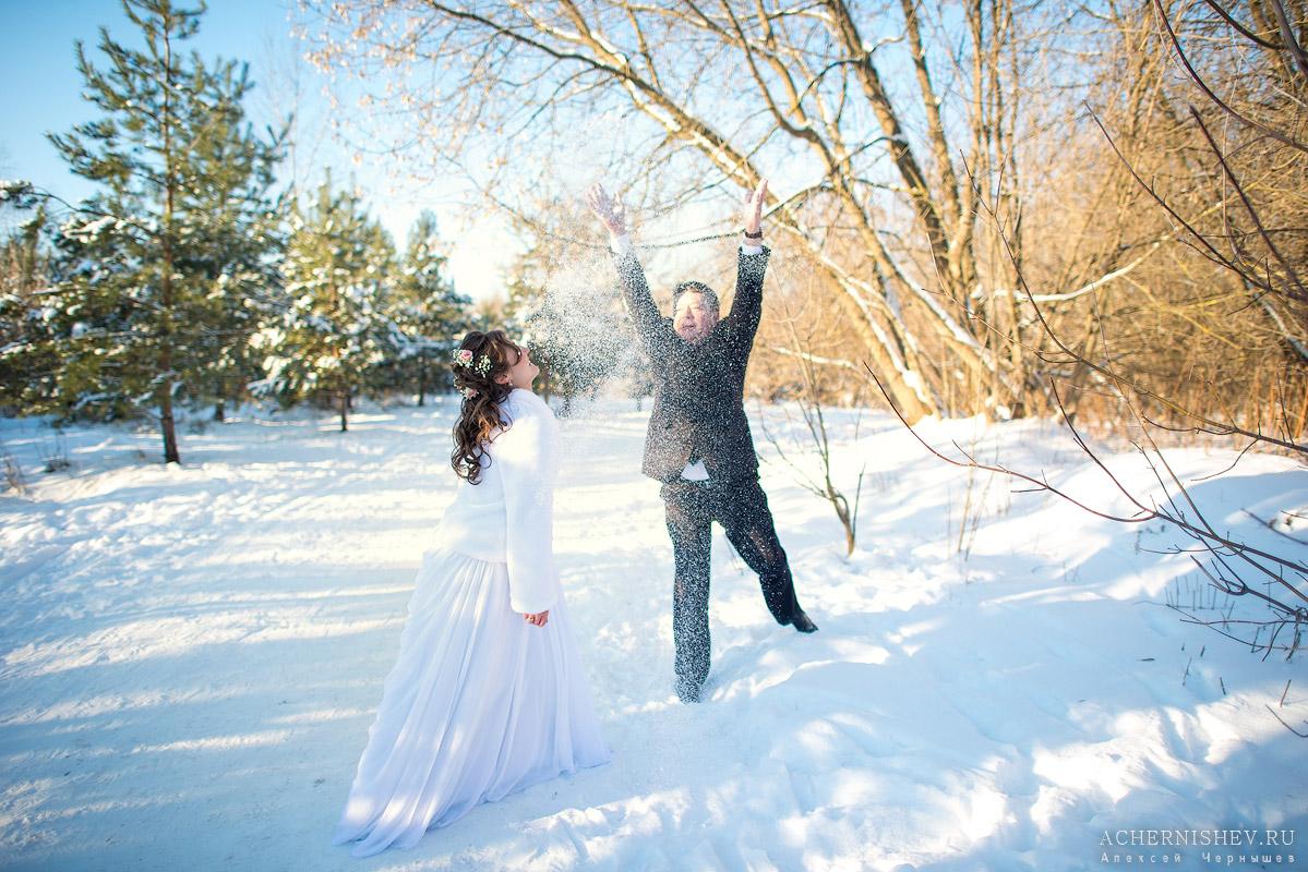 невеста в снегу