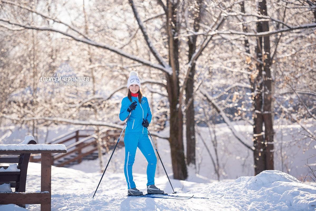 фотосессия в лесу зимой с лыжами продаются готовые меню