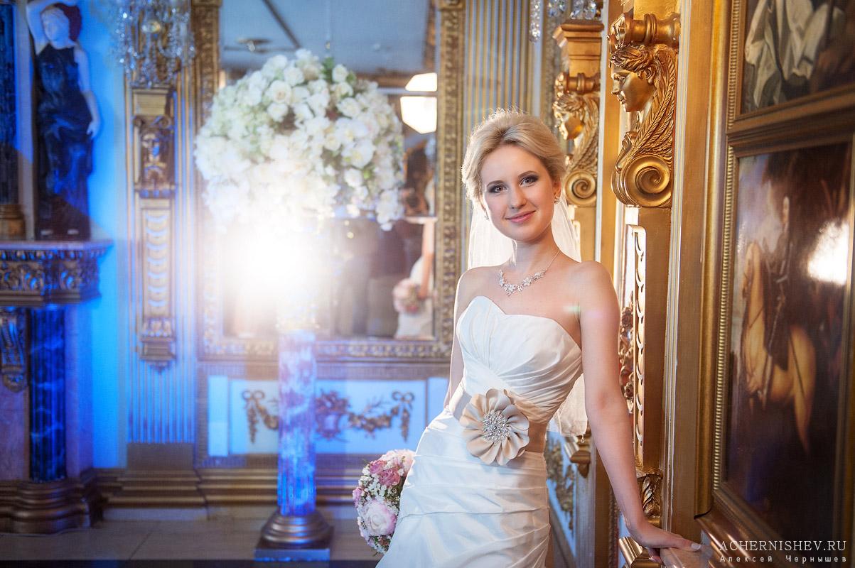 портрет невесты с дополнительным освещением