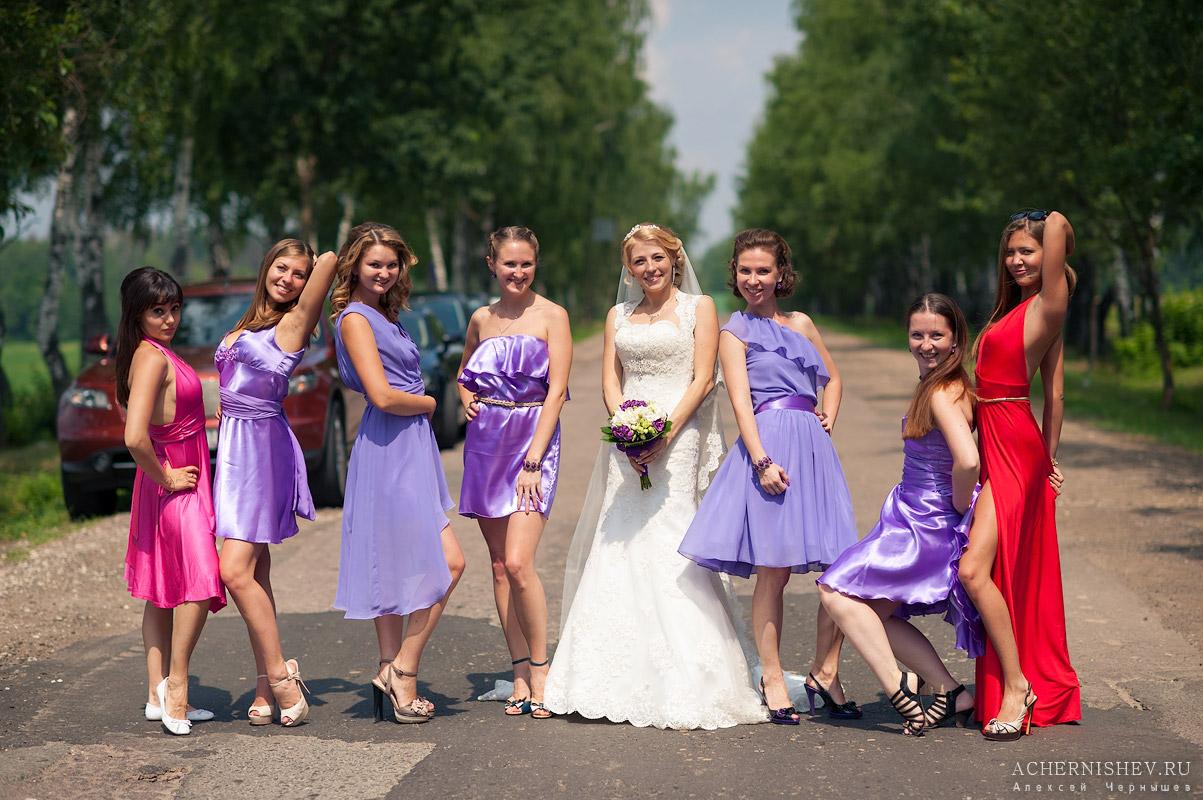 Сиреневая свадьба подружки невесты
