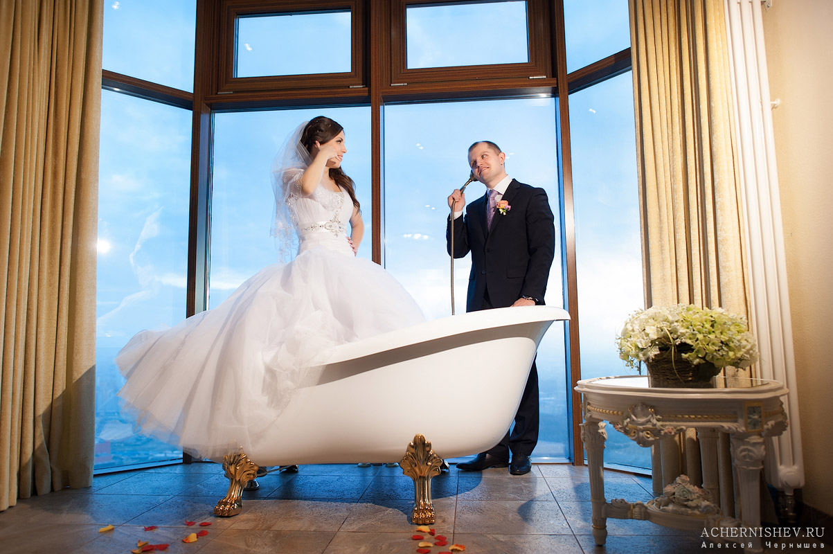 свадебная фотосессия в ванной