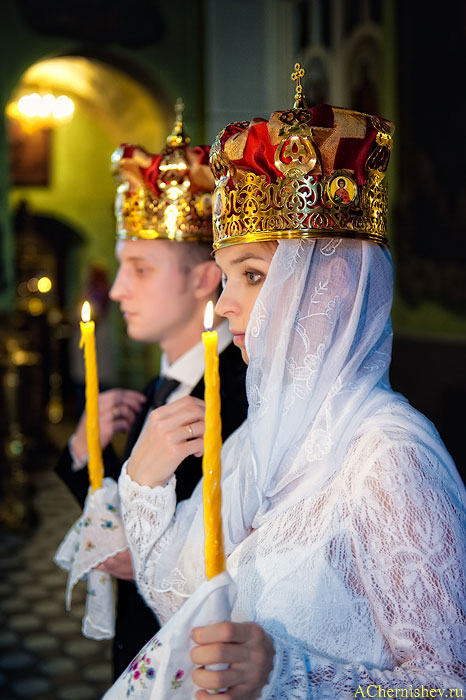 фото невесты в церкви