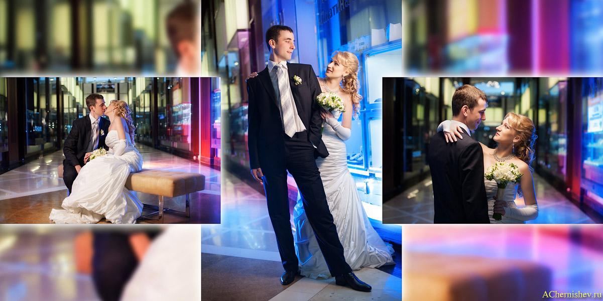 пример разворота свадебной фотокниги