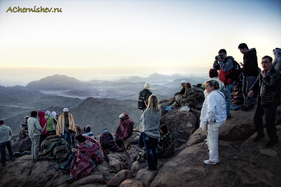 Туристы на горе Моисея