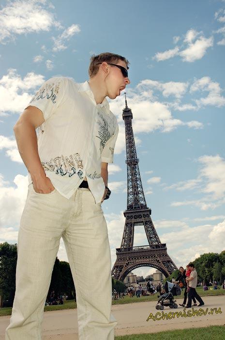 фотография с Эйфелевой башней
