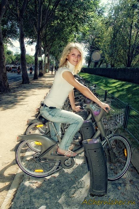 прокат велосипедов в Париже