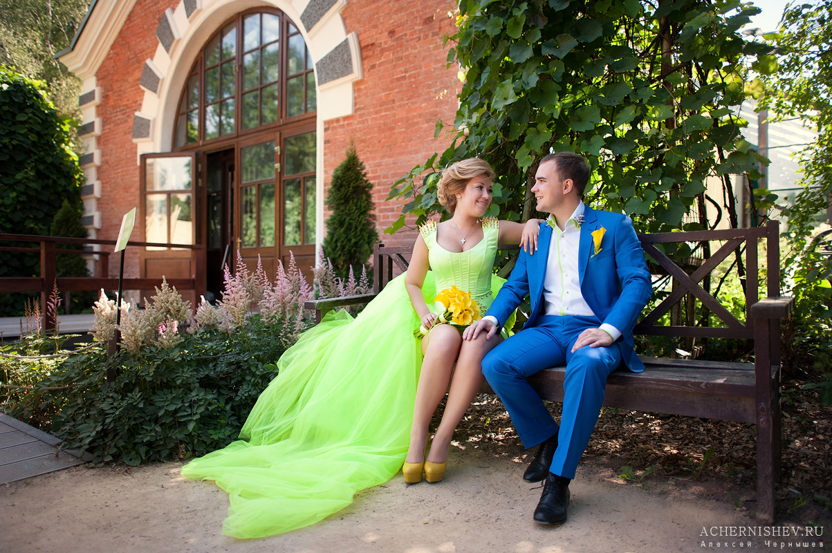 08-green wedding dress