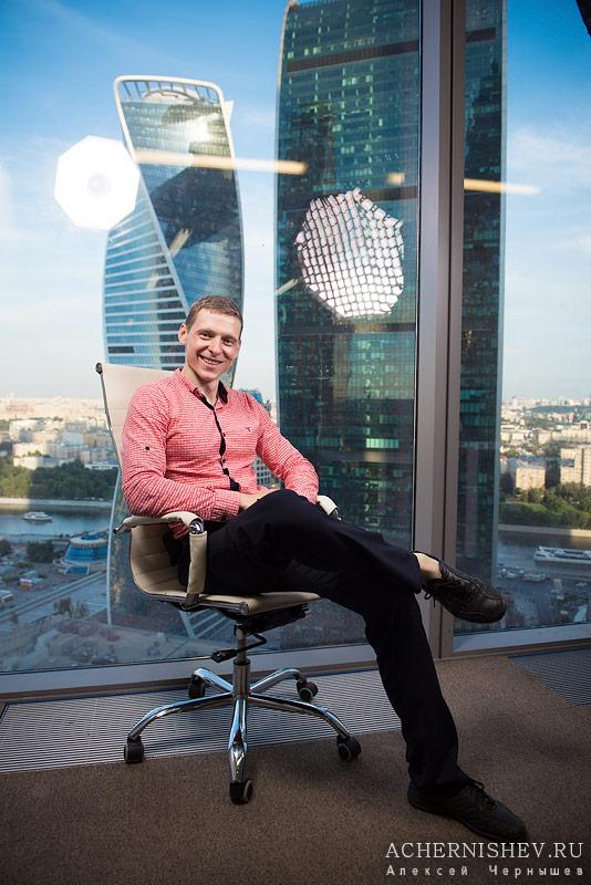 Алексей Чернышев в офисе Москва Сити